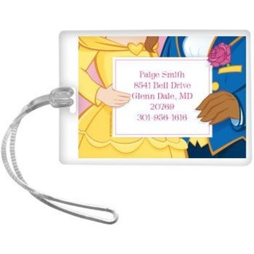 Princess & Beast Personalized Luggage Tag (each)