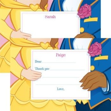 Princess & Beast Personalized Thank You Note (each)