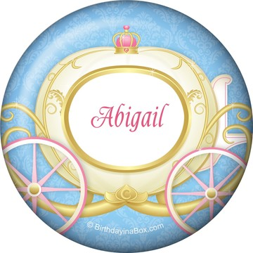 Princess Coach Personalized Button