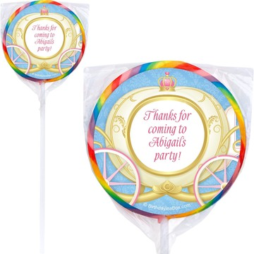 Princess Coach Personalized Lollipop (pack of 12)