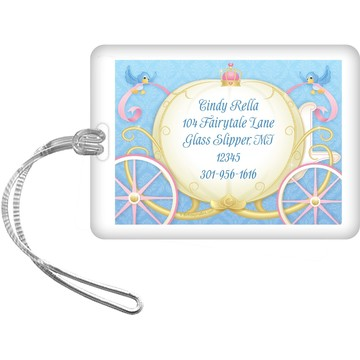 Princess Coach Personalized Luggage Tag