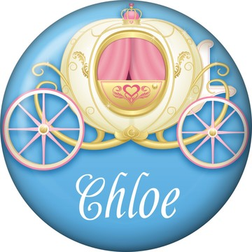 Princess Coach Personalized Mini Button