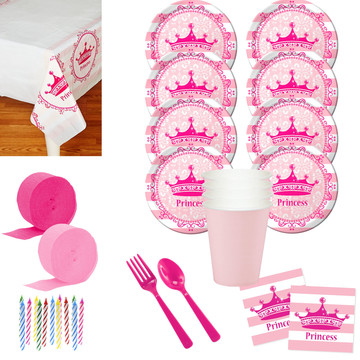 Princess Party Deluxe Tableware Kit (Serves 8)