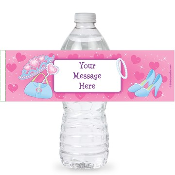 Princess Personalized Bottle Labels (Sheet of 4)