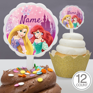 Princess Personalized Cupcake Picks (12 Count)