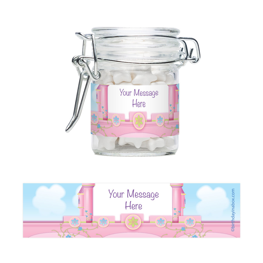View larger image of Princess Personalized Glass Apothecary Jars (12 Count)