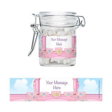 Princess Personalized Glass Apothecary Jars (12 Count)