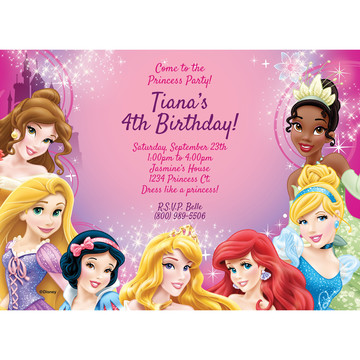 Princess Personalized Invitation (Each)