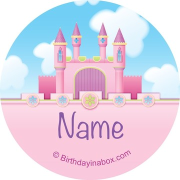 Princess Personalized Mini Stickers (Sheet of 24)