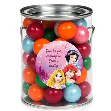 Princess Personalized Paint Can Favor Container (6 Pack)