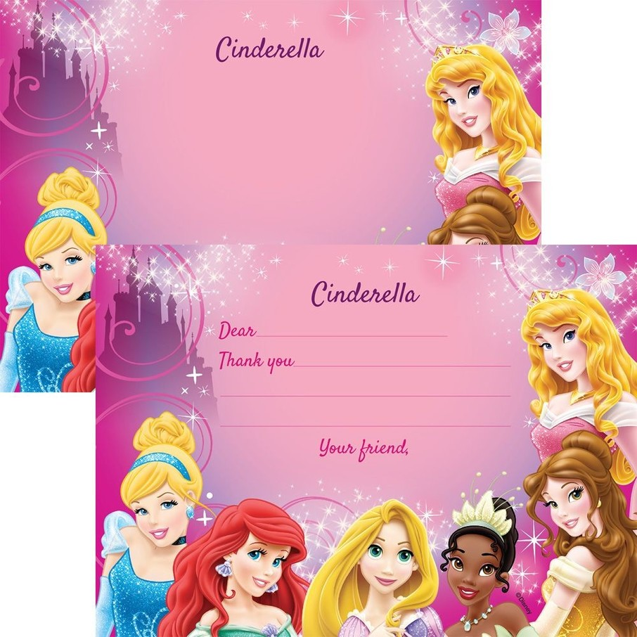 View larger image of Princess Personalized Thank You Note (Each)