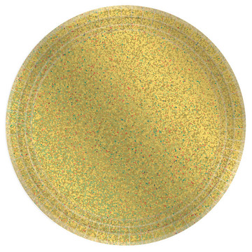 Prismatic Gold Lunch Plates (8)