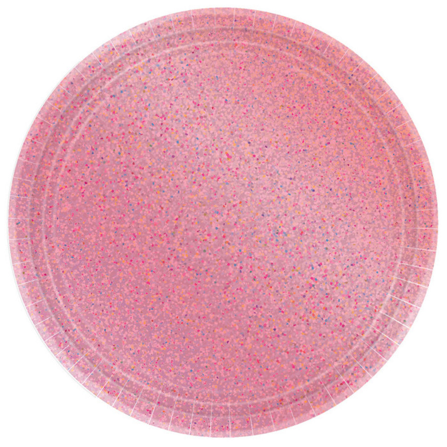 View larger image of Prismatic Pink Lunch Plates (8)