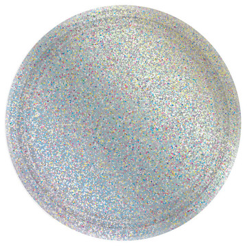Prismatic Silver Lunch Plates (8)