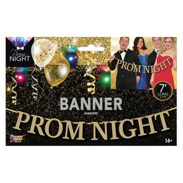Prom Night Gold Letter Banner