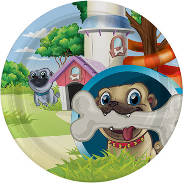 "Pug Pals 9"" Lunch Plate (8)"