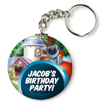 "Pug Pals Personalized 2.25"" Key Chain (Each)"