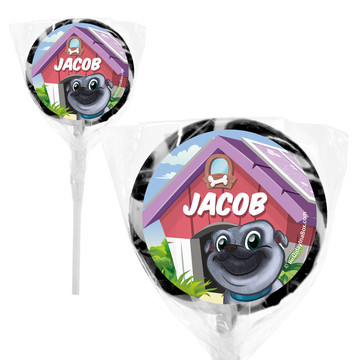 "Pug Pals Personalized 2"" Lollipops (20 Pack)"