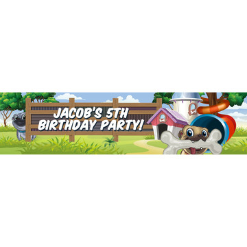 Pug Pals Personalized Banner (Each)