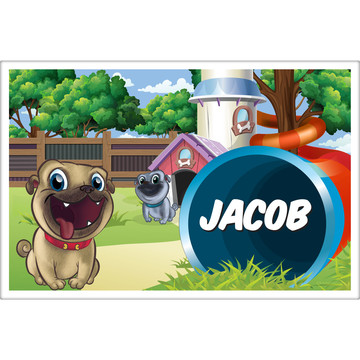 Pug Pals Personalized Placemat (Each)