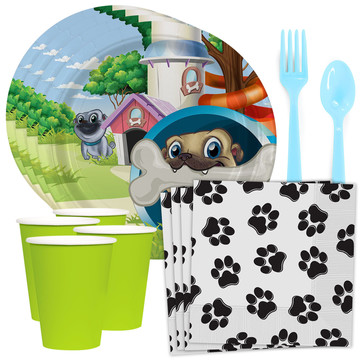 Pug Pals Standard Tableware Kit (Serves 8)