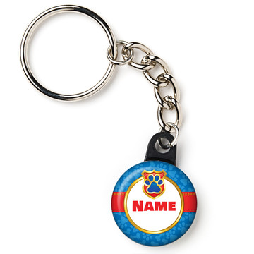 "Pup Command Personalized 1"" Mini Key Chain (Each)"