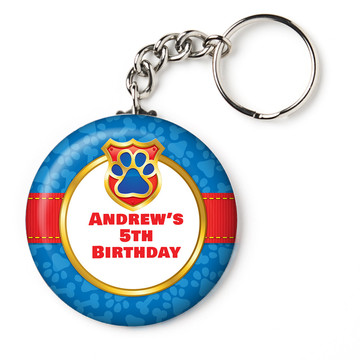 "Pup Command Personalized 2.25"" Key Chain (Each)"