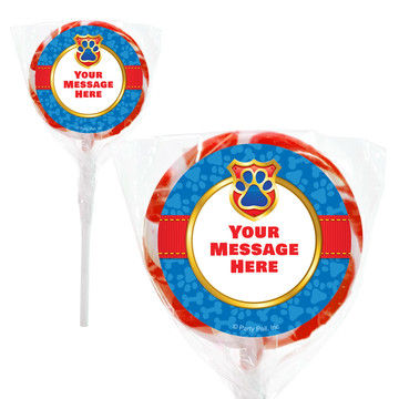 "Pup Command Personalized 2"" Lollipops (20 Pack)"