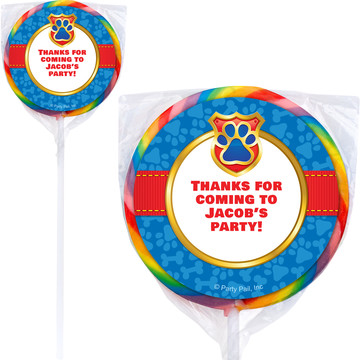 Pup Command Personalized Lollipops (12 Pack)