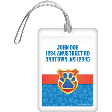 Pup Command Personalized Luggage Tag (Each)