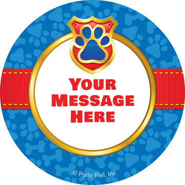 Pup Command Personalized Mini Stickers (Sheet of 24)