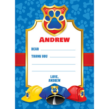 Pup Command Personalized Thank You (Each)