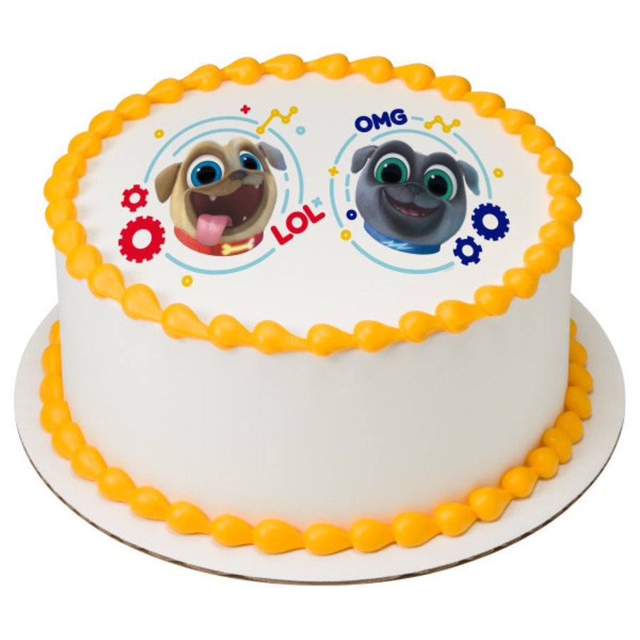 "View larger image of Puppy Dog Pals 7.5"" Round Edible Cake Topper (Each)"