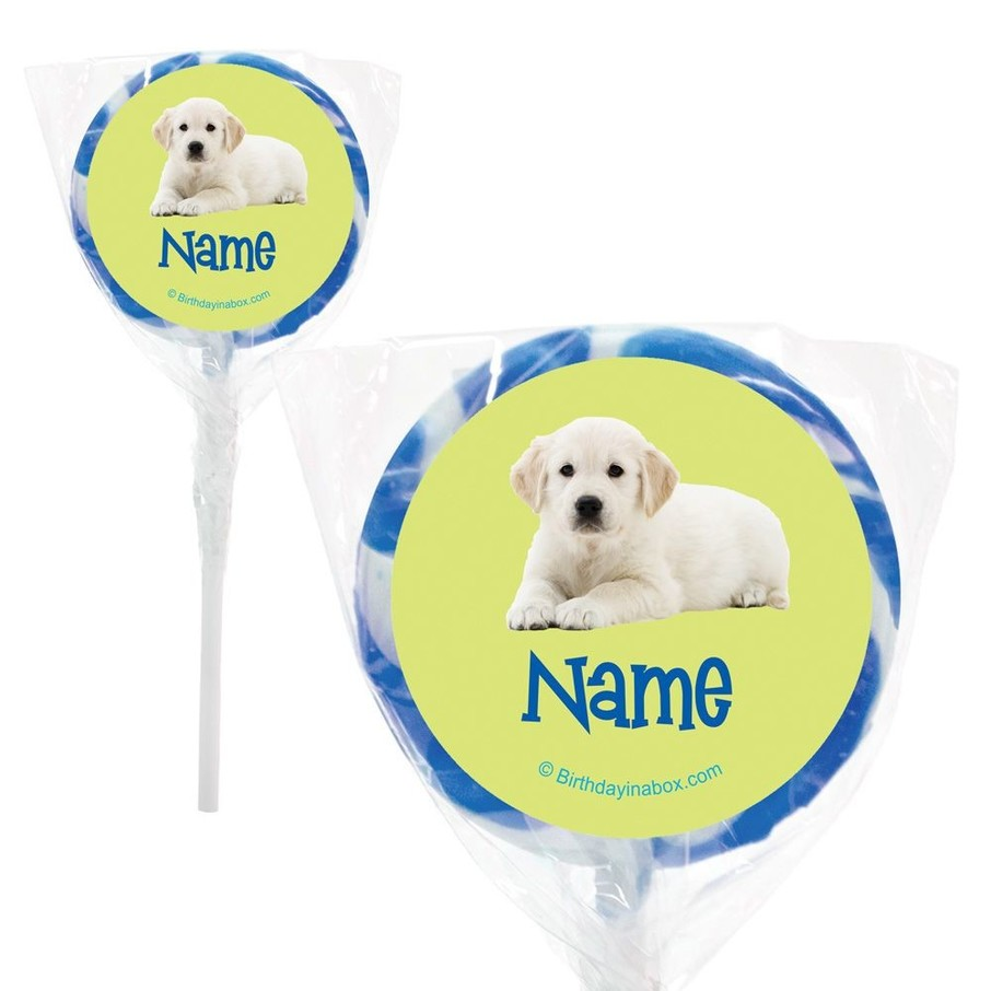 """View larger image of Puppy Party Personalized 2"""" Lollipops (20 Pack)"""
