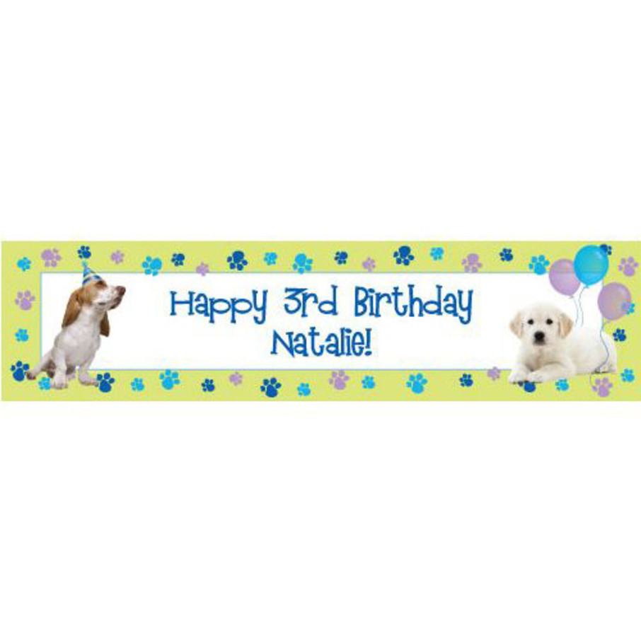 View larger image of Puppy Party Personalized Banner (each)