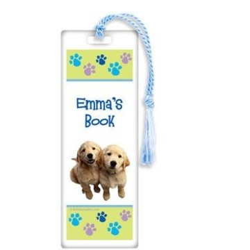 Puppy Party Personalized Bookmark (each)