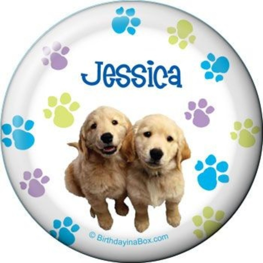 View larger image of Puppy Party Personalized Button (each)
