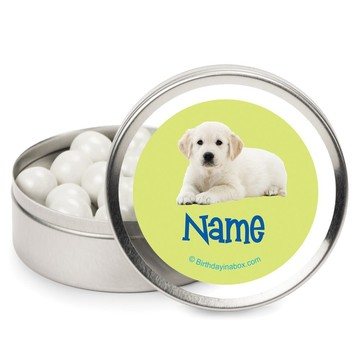 Puppy Party Personalized Candy Tins (12 Pack)