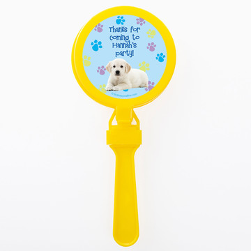 Puppy Party Personalized Clappers (Set of 12)