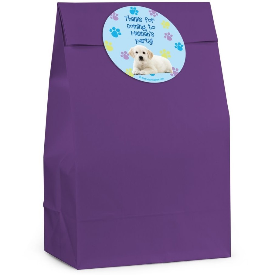 View larger image of Puppy Party Personalized Favor Bag (Set Of 12)