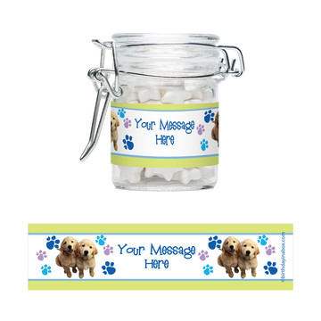 Puppy Party Personalized Glass Apothecary Jars (12 Count)