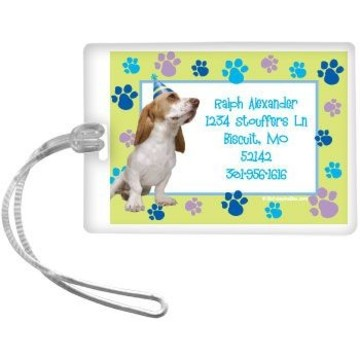 Puppy Party Personalized Luggage Tag (each)