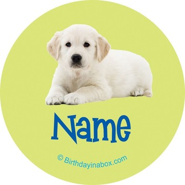 Puppy Party Personalized Mini Stickers (Sheet of 24)