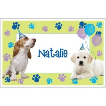 Puppy Party Personalized Placemat (each)