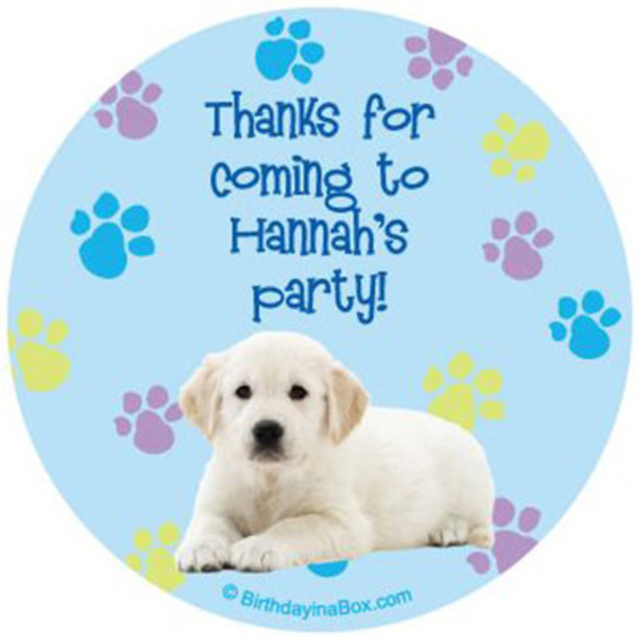 View larger image of Puppy Party Personalized Stickers (sheet of 12)