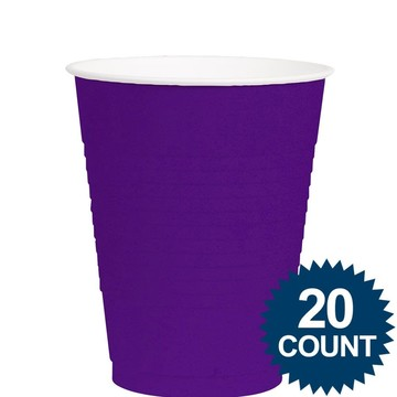 Purple 12Oz. Plastic Cups (20 Pack)
