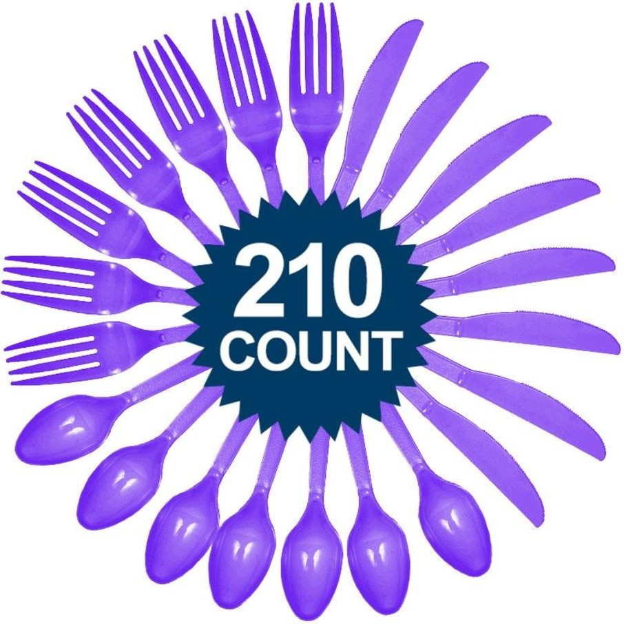 View larger image of Purple Cutlery Set - Value Pack (210 Pack)