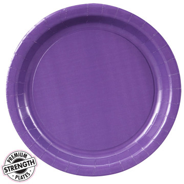 Purple Dinner Paper Plates (8 Count)