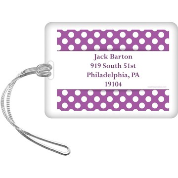 Purple Dots Personalized Luggage Tag (Each)