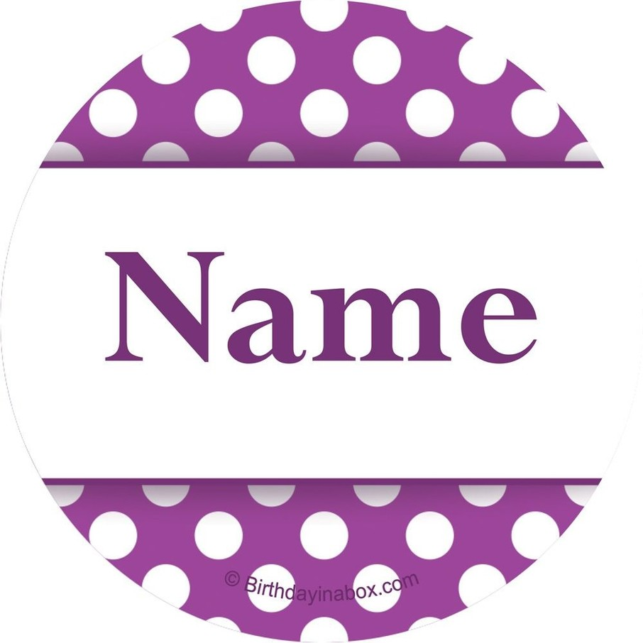 View larger image of Purple Dots Personalized Mini Stickers (Sheet of 24)